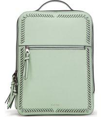 calpak kaya faux leather laptop backpack - green