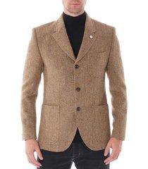 gibson heringbone jacket - gold g19234