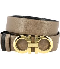 salvatore ferragamo belt salvatore ferragamo gancini belt in reversible score leather