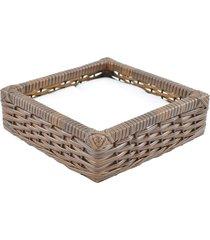 porta guardanapo tradicional fibra sintetica - argila - marrom - dafiti