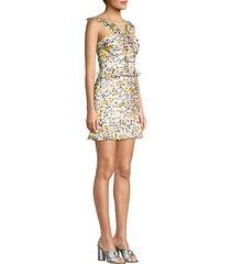 elyse ruffled silk mini dress
