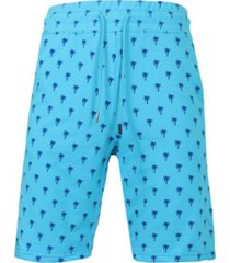 galaxy by harvic men's slim fit french terry printed shorts with contrasting palm tree design