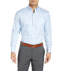 men's peter millar crown soft gingham regular fit sport shirt, size small - none