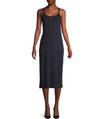 vince women's ribbed cami dress - coastal blue - size l