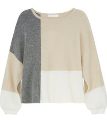 adyson parker women's long sleeve color block pullover