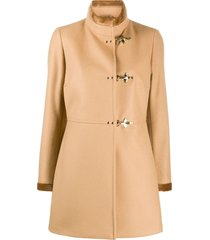 fay midi duffle coat - brown