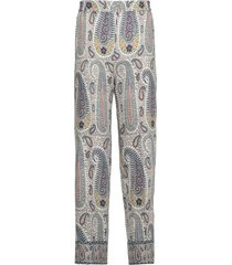 etro silk and wool blend pants with paisley print