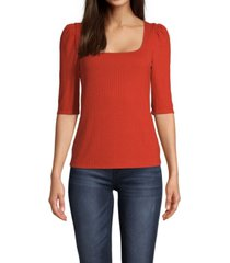jpr studio women's knit square neck top