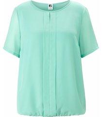 shirt met ronde hals en korte mouwen van anna aura turquoise