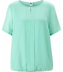 shirt ronde hals en korte mouwen van anna aura turquoise