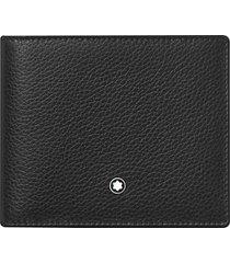 montblanc meisterstuck soft grain leather wallet in black at nordstrom