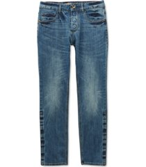 seven7 adaptive men's belmore slim straight-fit power stretch jeans with magnetic fly and stay-put closure