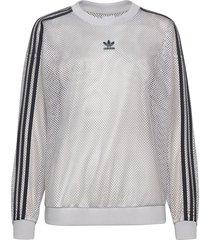 mesh crew sweat-shirt tröja grå adidas originals