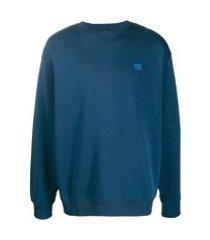 acne studios suéter oversized de algodão - azul