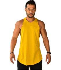 regata longline basics brohood amarela - amarelo - masculino - dafiti