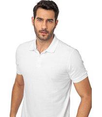 camisa polo forum reta lisa branca