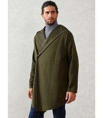 abrigo casual de manga larga con capucha y un solo botón para hombre