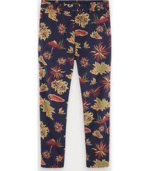 scotch & soda fave - katoenen canvas chino met print | regular tapered fit