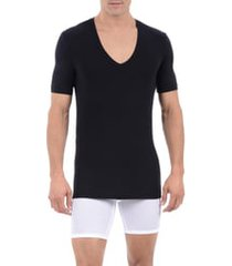 men's tommy john cool cotton deep v-neck undershirt, size small - black
