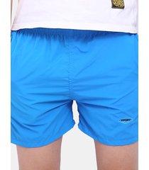 pantaloncini mare in cotone con coulisse
