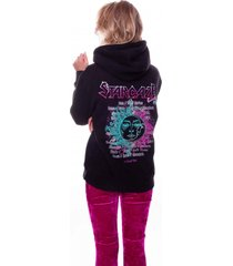 colourful rebel stargaze tour oversized hoodie black zwart