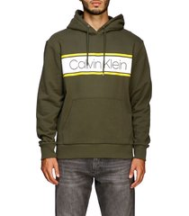 calvin klein sweatshirt calvin klein sweatshirt with hood and maxi logo