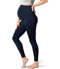 blanqi everyday maternity belly support leggings, size medium in navy at nordstrom