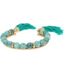 "jessica simpson tassel beaded cuff bracelet, 5.5"""