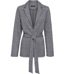 blazer in jersey a quadri (nero) - bpc selection