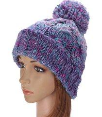 cappellino da sci per polsini di lana con berretto lavorato a maglia