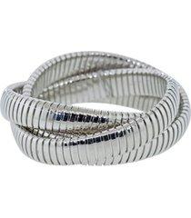 12mm white gold three band rolling bracelet