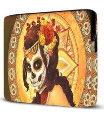 capa para notebook isoprene caveira mexicana 15 polegadas feminina - feminino