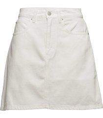 high rise mini skirt stripe kort kjol vit calvin klein jeans