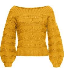 maglione con spalle scoperte (giallo) - rainbow