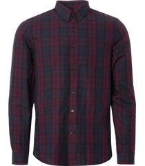 fred perry winter shirt - mahogany m4534-799