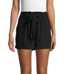 laundry by shelli segal women's belted paperbag shorts - black - size xs