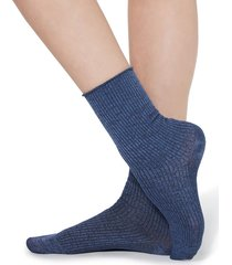 calzedonia - fancy patterned socks, one size, blue, women