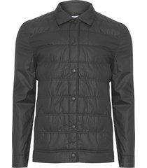 casaco masculino puff resinado - preto