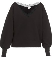 red valentino sweatshirt with lace ribbon