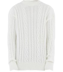 family first milano sweater braided white