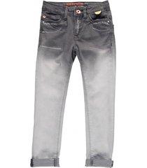 retour grijze slim fit jeans