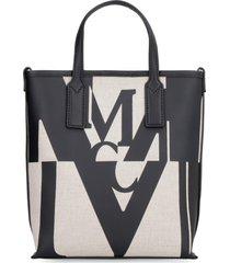 mcm canvas handbag