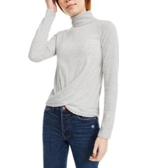 crave fame juniors' cozy twist-front turtleneck top
