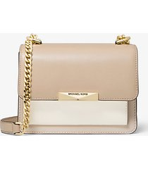 mk borsa a tracolla jade extra-small in pelle tricolore - lt sand mlti - michael kors