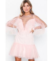 nly eve starlight frill dress loose fit