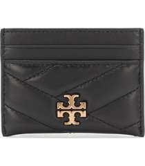 tory burch women's kira chevron card case - red apple