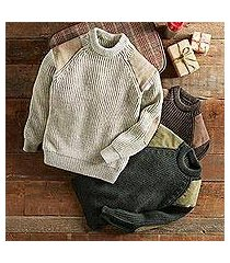 men's wool sweater, 'british isles' (united kingdom)