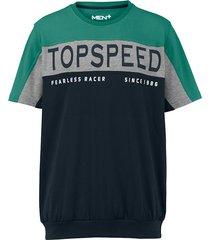 t-shirt men plus marinblå::grå::grön