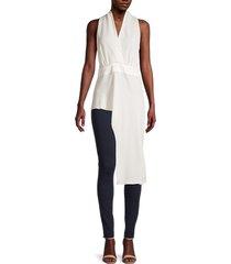 bcbgmaxazria women's sleeveless high-low top - off white - size m