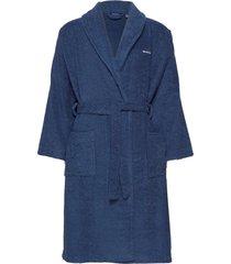 organic terry bathrobe ochtendjas badjas blauw gant